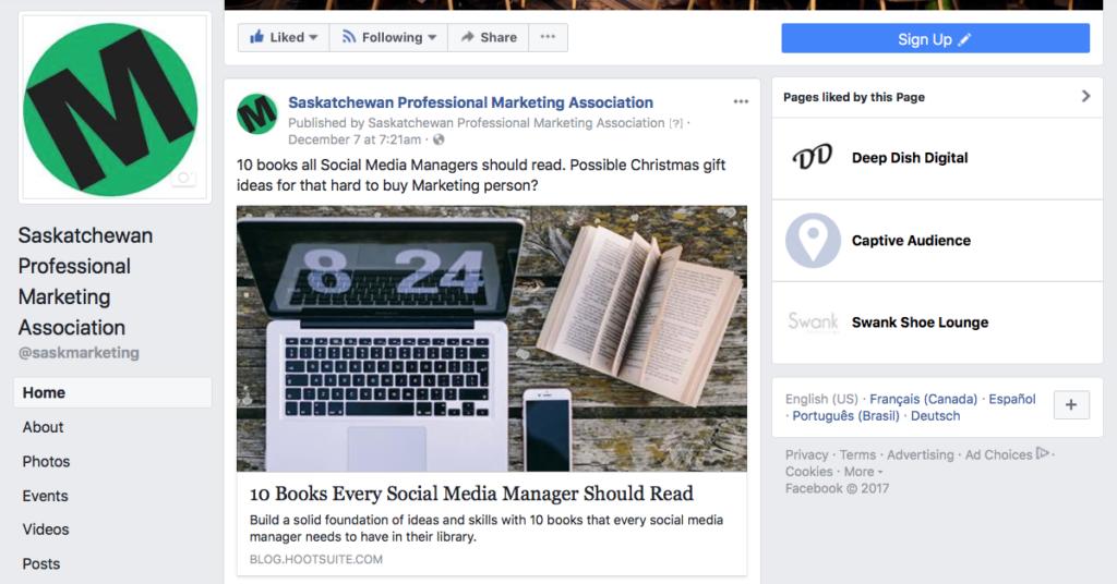 SPMA Facebook Page